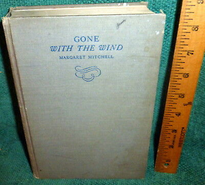 1936 1st ed BOOK- GONE WITH THE WIND by MARGARET MITCHELL - DECEMBER 1936