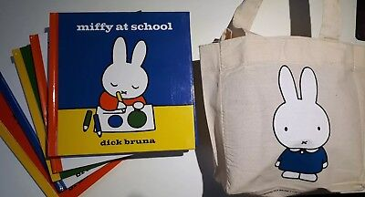 Miffy Bag Collection - 6 Books (Collection) Miffy at School Miffy at the Zoo