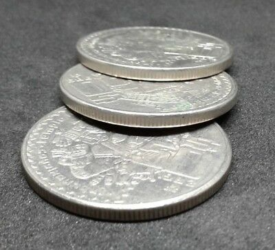 Mexico Large 50 pesos crown size set of 3 coins Random years Aztec Coyolxauhqui