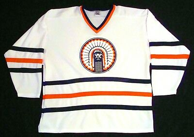 cheaper eba64 7d736 RARE VTG UNIVERSITY of Illinois Indian Logo CHIEF ILLINI Hockey Jersey  Men's L