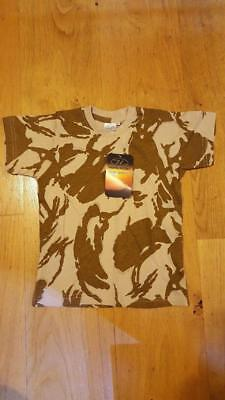"Highlander British Desert DPM T-shirt - kids 26"" (66cm) chest JOBLOT OF 100 BNIB"