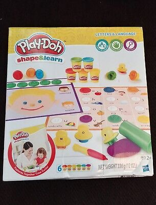 Play-Doh Shape and Learn Letters and Language New in Box