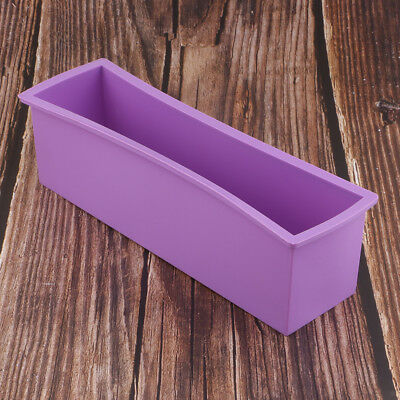 Rectangle Silicone Soap Mould DIY Candle Toast Loaf Cake Baking Mold 27cm