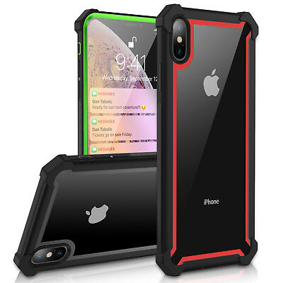 For iPhone 8 X XR XS Max Heavy Duty Hybrid Rugged Shockproof Case Silicone Cover