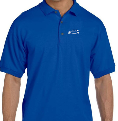 Dodge Charger EMBROIDERED LOGO golf polo shirt Royal Blue XL