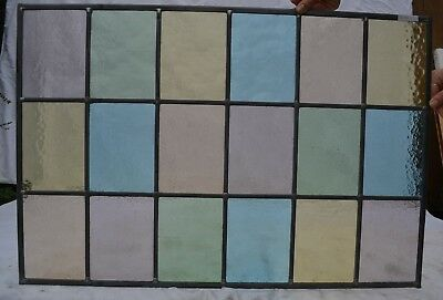 52.5 x 77cm traditional stained glass window panel. NEWLY MADE. R131i.
