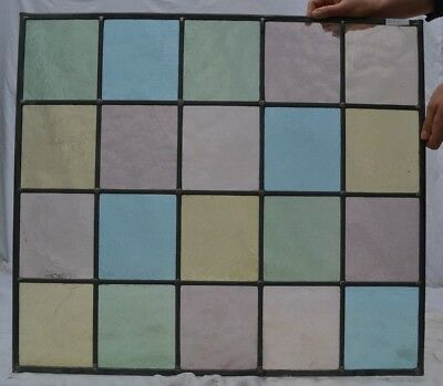 62.5 x 70.5cm stained glass window panel. NEWLY MADE. R131j.