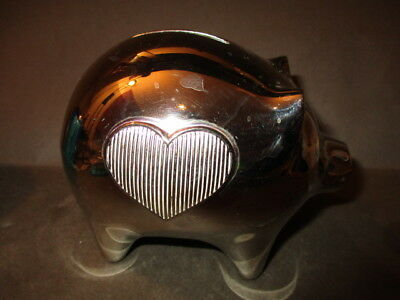 Vera Wang for Wedgwood Silver Plated Piggy Moneybox