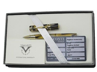 Visconti Ragtime Anniversary Acrilloid Rollerball Pen 1218/1988 New In Box