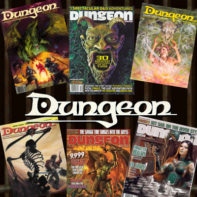 Dungeon Magazine Complete Run 150 Issues In PDF on 1 DVD - Dungeons and Dragons