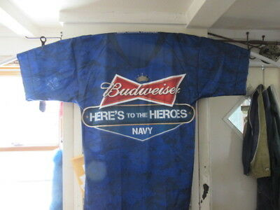 (New) Budweiser Beer Military Banner Us Navy Giant Size Jersey Bar Pub Sign