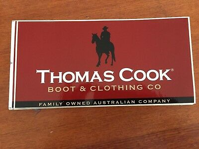 Thomas Cook Boot & Clothing Company Stickers 24cm x 11.5cm