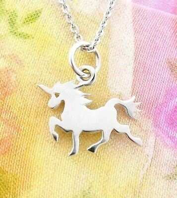 Tiny Magical Unicorn Necklace Sterling Silver Fantasy Fairytale Jewelry wh321
