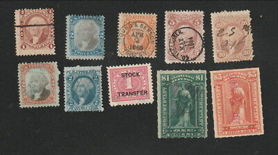 U.S. Revenue Stamps - Collection of 10