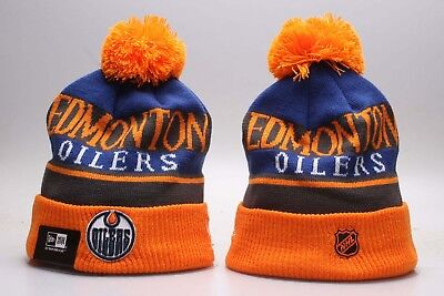 NHL Edmonton Oilers Hat Beanie Fan Winter Kint Lint Cap Wool Cap Yellow