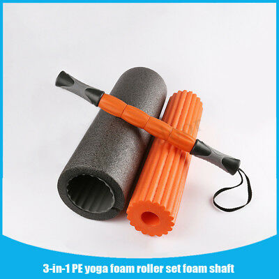 3-in-1 Yoga Exercise Fitness Massage Spike Yoga Foam Roller Yoga Column Massage