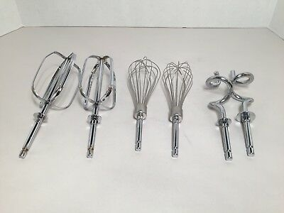 Set of 6 - Sunbeam Mixer Replacement Beaters, Dough Hooks & Whisks