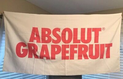 Rare limited Edition Absolut Vodka Grapefruit Brand Beach Towel