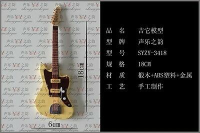 """1/6th Toy Handmade Woody yellow electric guitar model For 12"""" Action figure"""