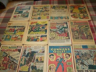 Lot Of 12 Old Comics No Covers  Western, Gene Autry,rocky Lane,gabby Hayes