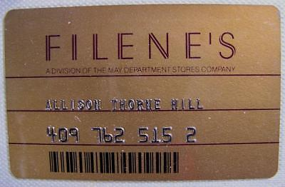nice condition Filene's store credit charge card unsigned c2000