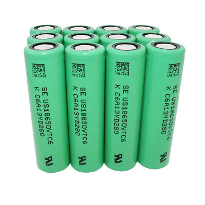 18650 VTC6 3000mAh High Drain Battery Li-ion Rechargeable Flat Top for Vape Smok