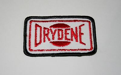 Rare Drydene Oil & Lubricants Cloth Car Jacket Patch New NOS 1980s