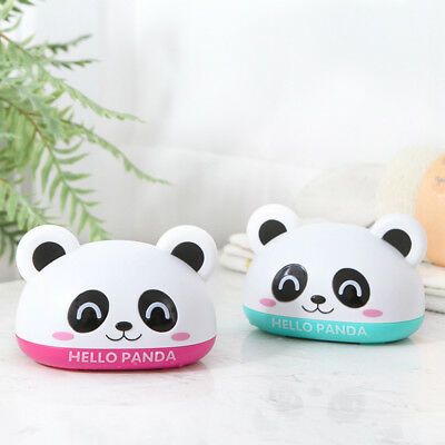 Lovely Panda Practical Soap Box Cover Draining Soap Dish Bathroom Accessories