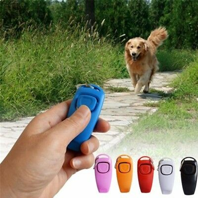 Dog Pet Click Clicker Puppy Training Obedience Agility Trainer Aid Whistle