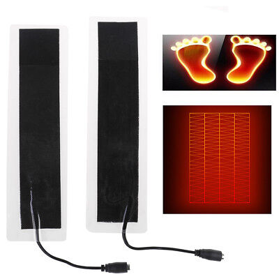 2X USB 12V 20*4cm Plastic Warm Heating Heater   Warm Plate Waist Shoes Pad Z