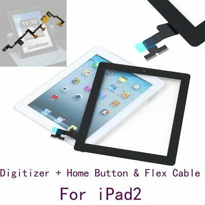 Replacement Touch Screen Digitizer + Home Button Assembly Cable for iPad2 KL