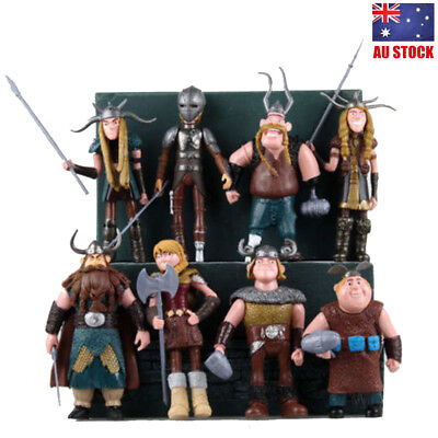 How to Train Your Dragon Astrid Gobber Fishlegs Movie 8 PCS Action Figure Toys