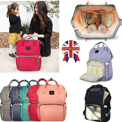 LAND Large Baby Diaper Nappy Backpack Mummy Change Nursing Travel Bag Waterproof