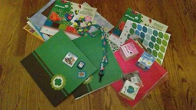 NEW Girl Scouts Scrap Books, Paper, Stickers,Earth Day Blocks LOT