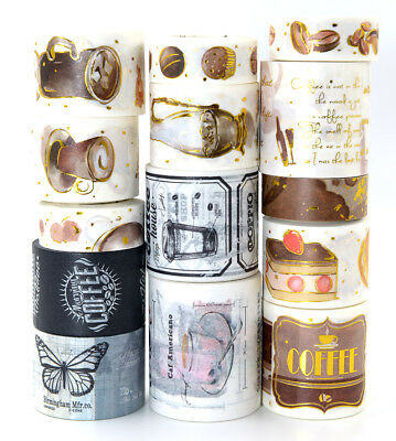 Coffee haul washi tape sticker for coffee lover junk bullet journal party deco