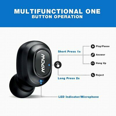 Mpow Mini Wireless Bluetooth 4.1 Stereo Waterproof Headset In-Ear Earphone