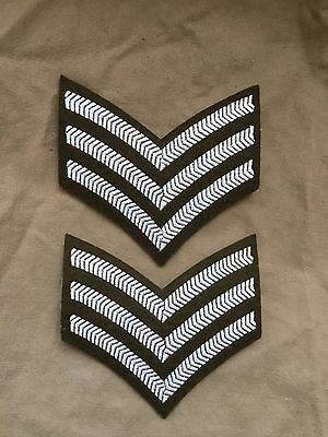NEW OLD STOCK Original Issue British Army Sergeant SGT Khaki No 2 BD Chevrons