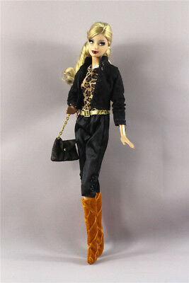 4in1 Set Outfit Clothes+bag+boots For 11 in. Doll