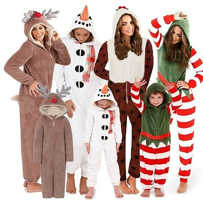 1Onesie Matching Mother & Daughter Onezee Christmas Fleece Pyjamas Pjs Girls