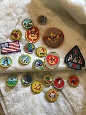 Vintage  Boy Scout Patches All Kinds Around 1970S