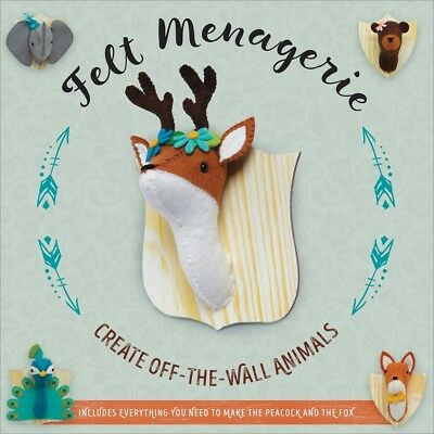 Felt Menagerie Kit-10 Stuffed Animal Projects