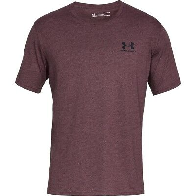 Under Armour Sportstyle Left Chest Short Sleeve Shirt T-Shirt maroon 1326799-601