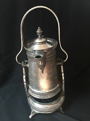 Rare Antique Wilcox Quadruple Plate Silver Tilting Water Pitcher 5142 B.c.