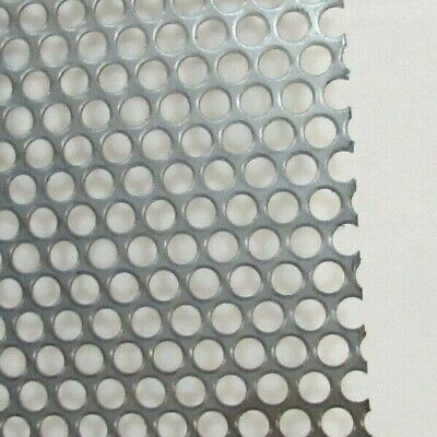 """1/4""""Holes On 5/16""""Center --12"""" X 12"""" -- 16 Ga. Stainless Perforated Sheet"""
