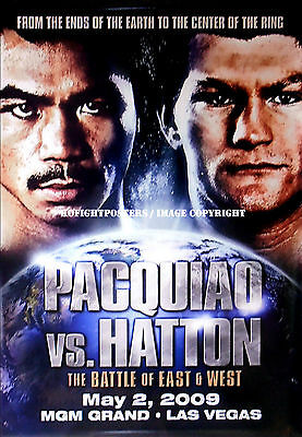 MANNY PACQUIAO vs. RICKY HATTON / Original MGM Grand Onsite Boxing Fight Poster