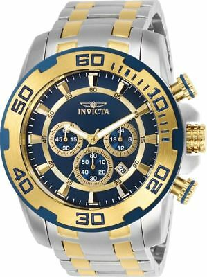 26296 Invicta 50mm Men's 'Pro Diver' Gold-Tone and Silver Stainless Steel Watch