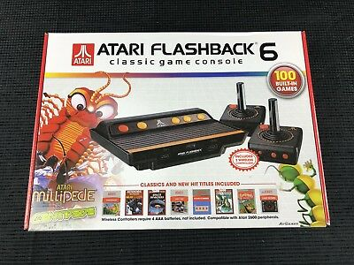Atari Flashback 6 Classic Game Console 100 Built-In Games BRAND NEW