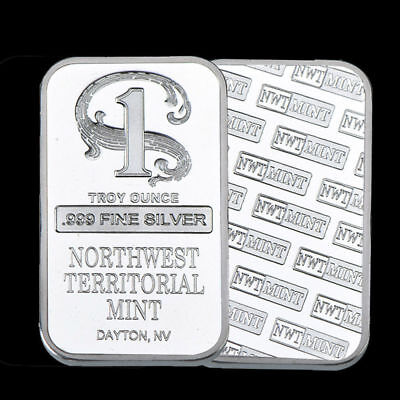 1 oz Northwest Territorial Mint Silver Bar .999 Fine- 50% OFF coin celebrities