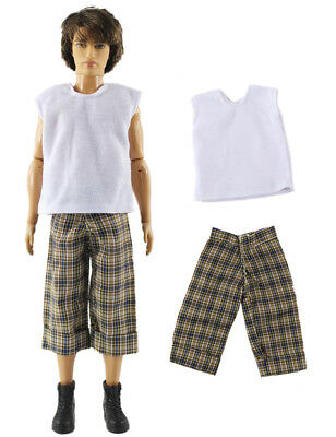 Dll clothing/Outfit/Tops+Pants For Barbie's BF Ken Doll Clothes B46
