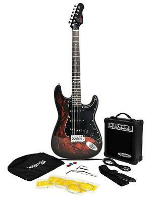 Jaxville Demon ST Style Electric Guitar Pack with Amp, Gig Bag, Strings, Strap,